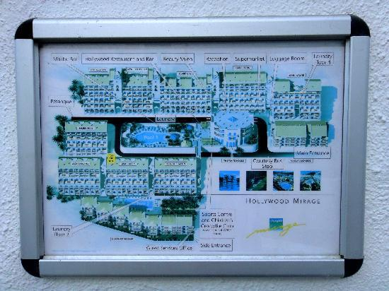 Map Of The Resort Picture Of Hollywood Mirage Arona Tripadvisor