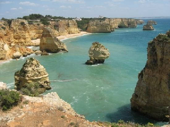 Algarve with picturesque bays