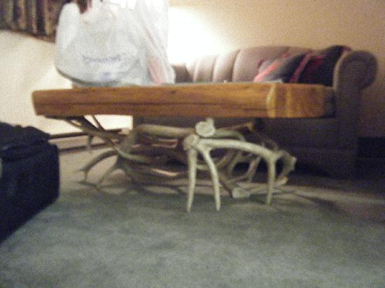 Americas Best Value Inn Kalispell: Antlers under the table