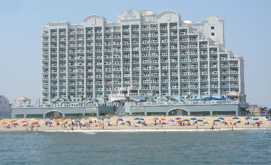 Ocean City Hotels >> Beach Side Of Hotel Picture Of Hilton Suites Ocean City Oceanfront