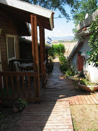 Arbel Holiday Homes: View from the back of the cabin