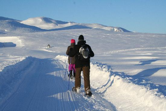 "Strand Fjellstue: The o so popular ""snowshoes"""