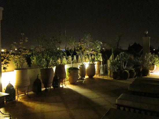 Rooftop terrace at night picture of riad kniza for Terrace night