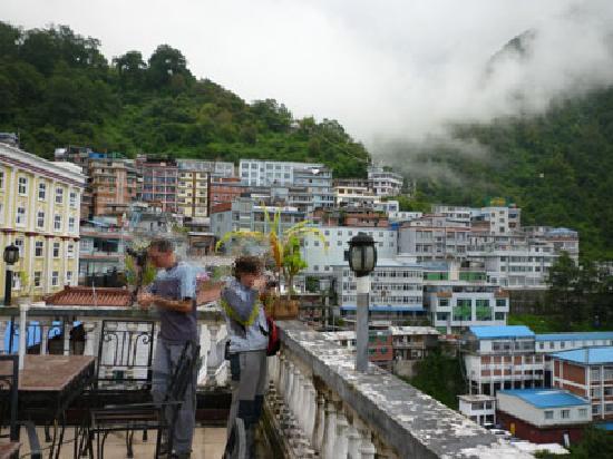 Sherpa Hotel: Vistas desde la terraza