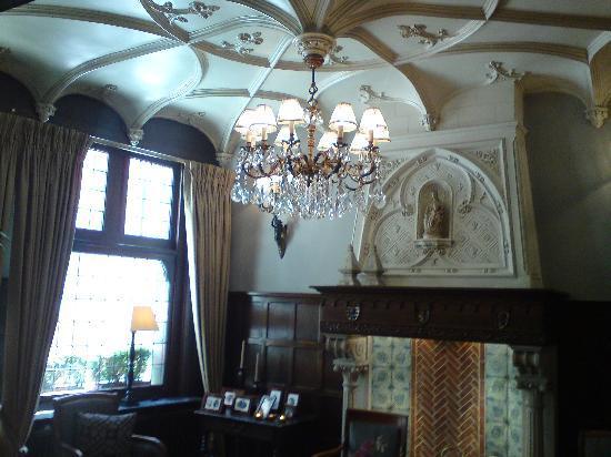 Hotel Prinsenhof Bruges : The reception lounge