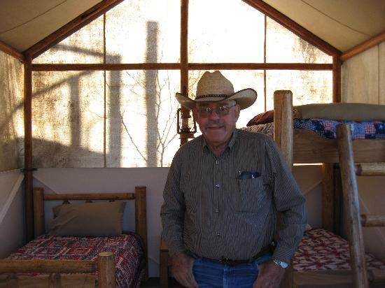 K3 Guest Ranch Bed & Breakfast: The Tent 'Room' - bunkbeds, dog/family-friendly!