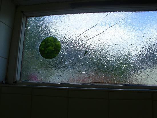 Bonville's Court Holiday Park : broken window in ladies toilet