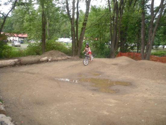Splash Magic Campground: their dirt bike track for the kids