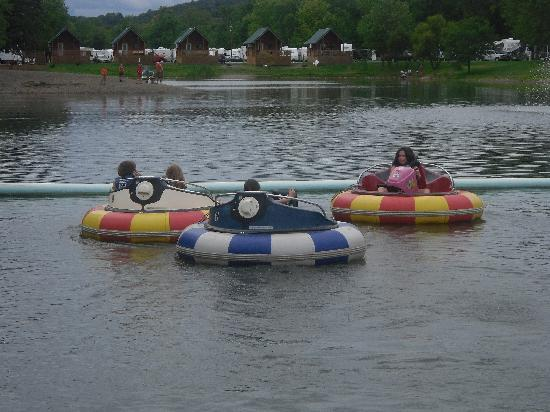 Splash Magic Campground: the bumper boats