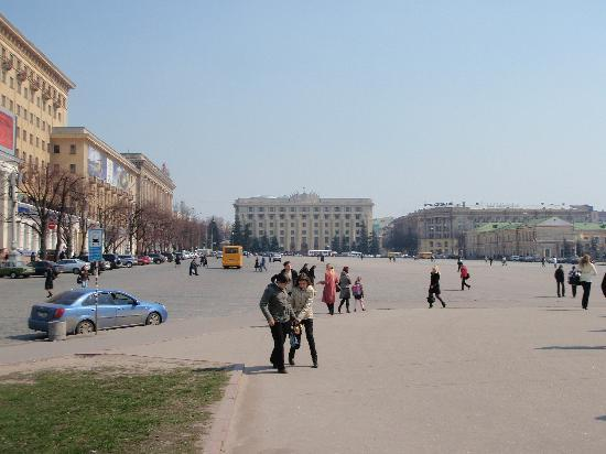 Freedom Square: across the square to parliament building