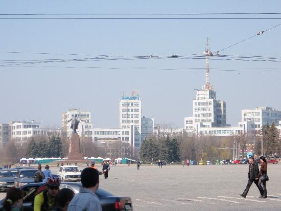 Freedom Square: east across square to Dhezprom