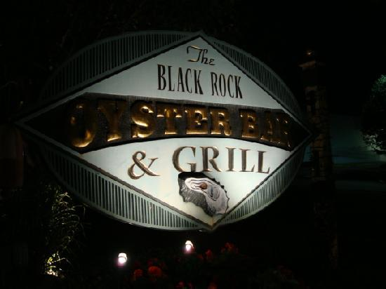 Black Rock Oyster Bar & Grill: Sign in front of the restaurant.