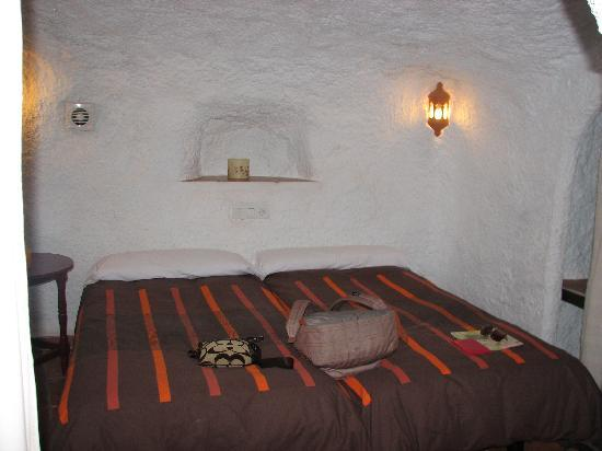 Cuevas El Abanico: bedroom in the cave at the back -nice and cool for sleeping