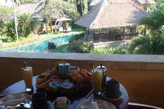 Rumah Bali: pdj sur la terrasse du bungalow