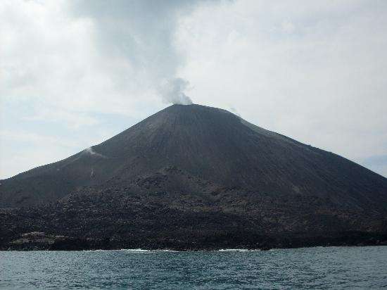 Java, Indonesia: Anak Krakatau in quiet mode.
