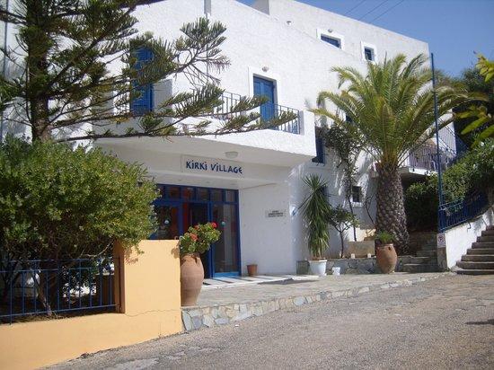 Panormos, Grèce : entrée de l'hotel