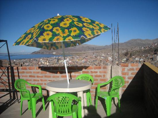Puma Backpackers Hostel : balcon