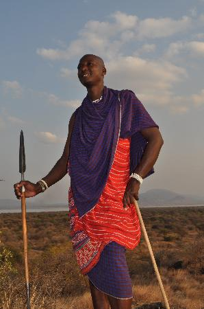 Lake Burunge Tented Camp: Maasai Warrior