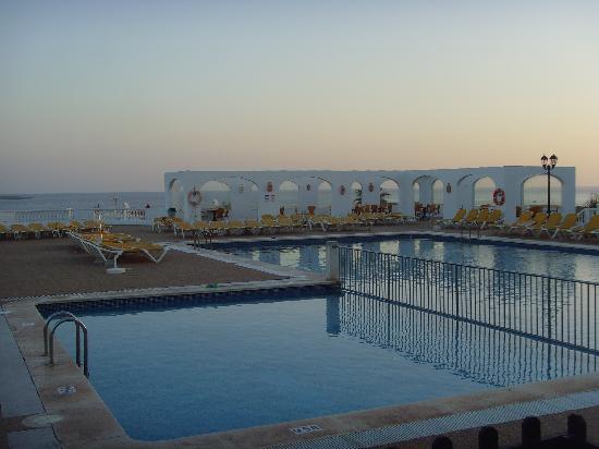 Sa Mirada pool (7am) overlooking the sea