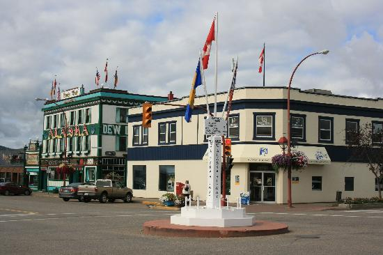 Dawson Creek, Kanada: Milepost 0 des Alaska Highways