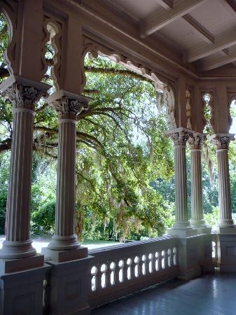 Natchez, MS: Longwood House, Blick von der Veranda