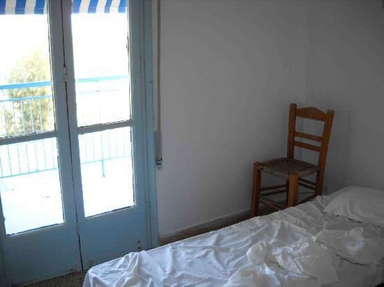 Akrogiali Hotel: la porta-finestra