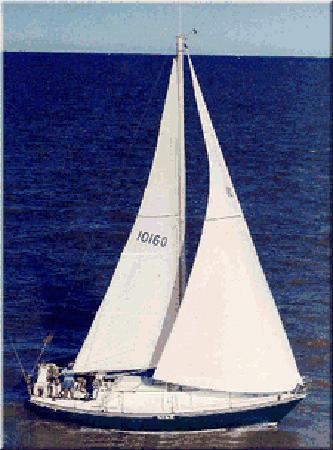 A Water's Edge Retreat Resort: NIKE our 35 foot Sail Boat