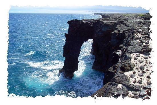 Kailua-Kona, Hawaï: Sea Arch at Volcano National Park