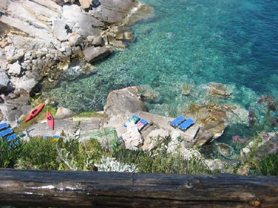 Il Pardini's Hermitage: kayaks are available