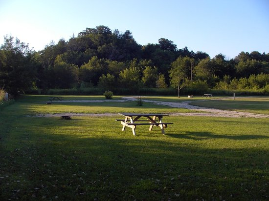 Sampson Springs Campground : View toward trout stream