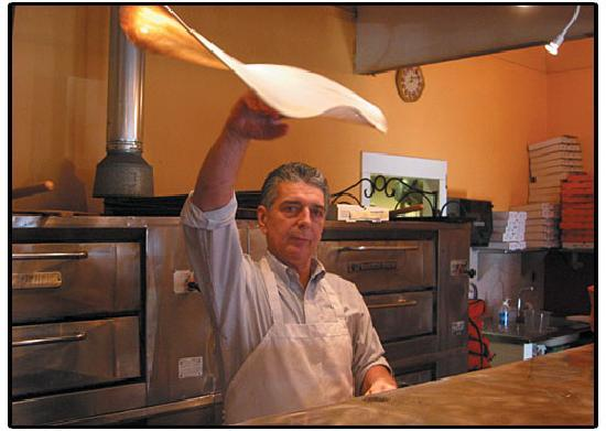 Finelli Pizzeria: Paul tossing his freshly made dough