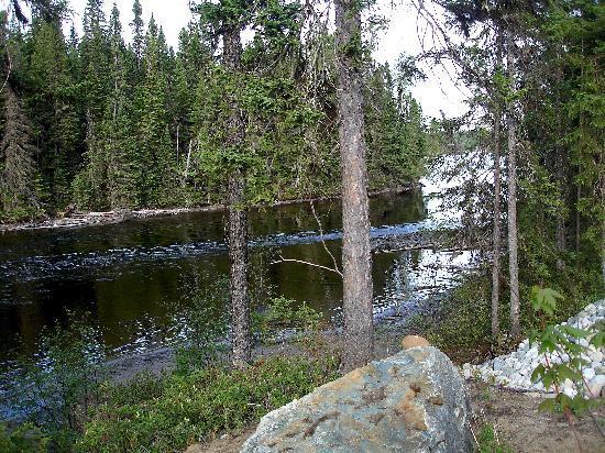 Gite de la Riviere: La rivière en façade de propriété