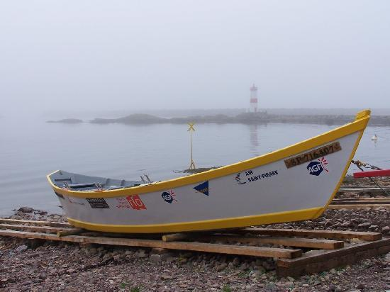 Saint-Pierre and Miquelon: Typical dory type fishing boat