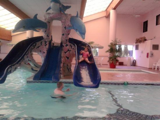 Grand Marquis Waterpark Hotel & Suites: Indoor pool Slide