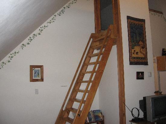 Havenwood Guest House: Climb up to the loft area