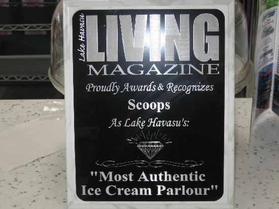 Scoops Homemade Ice Cream: More recognition for Scoops, yeah!