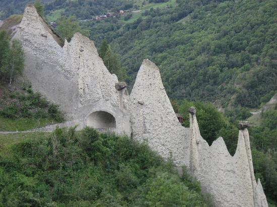 Valais, Suisse : Pyramides de Euseigne