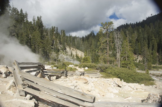 Chester, Californië: Devil's Kitchen Geothermal area near Drakesbad