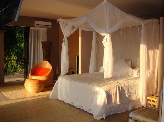 Vila Pedra Mar: Suite at Vila PedraMar, a hidden pousada on Praia Vermelha, Ilha Grande, Brazil