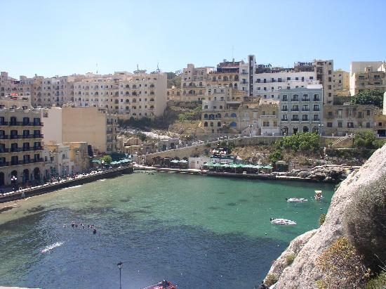 Xlendi, Malta: view from  steps on climb up  rocks.