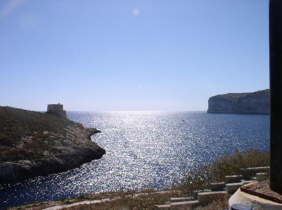 Xlendi, Malta: The small opening of the Bay.