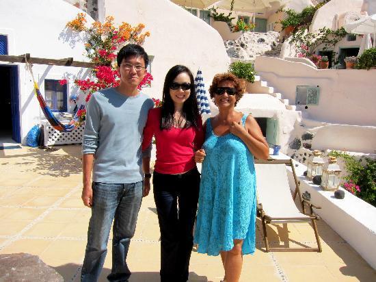 Ifestio Villas: Katerina & us