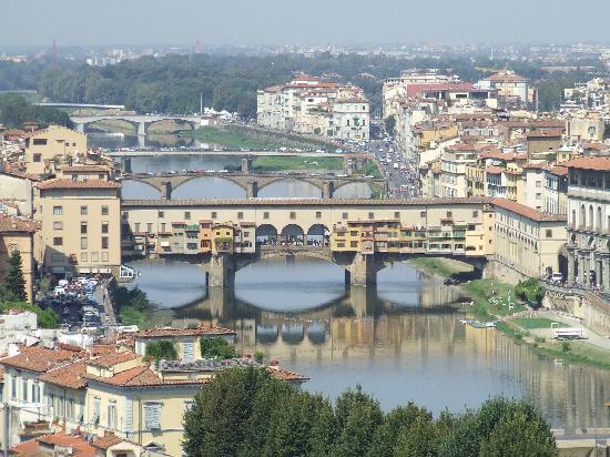 Hotel David: View of Ponte Vecchio from Plaza Michaelangelo