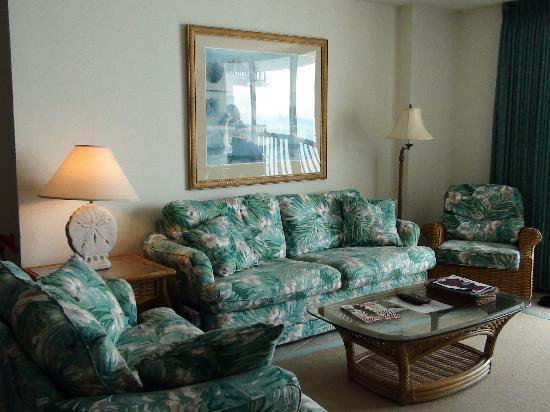 The Ocean Bay Club : Living Area