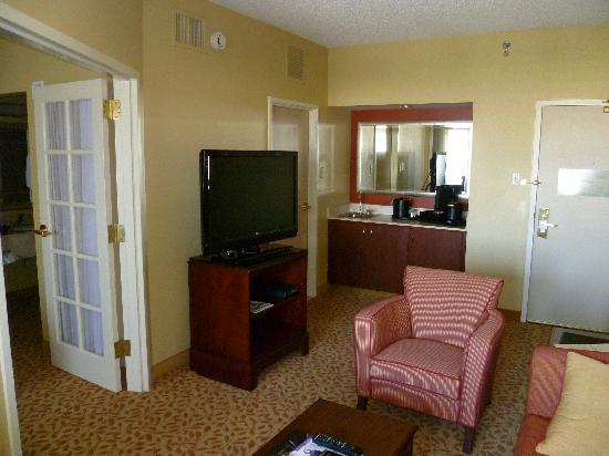 Dallas Marriott Suites Medical Market Center Living Room Of Suite