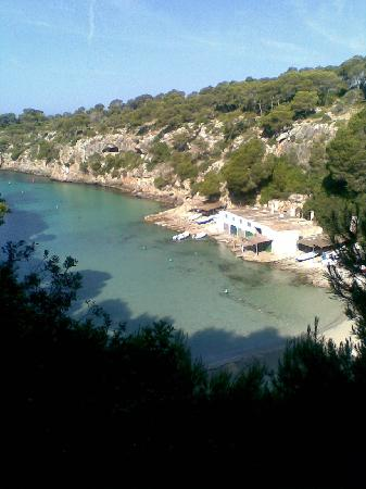 Llucmajor, Hiszpania: Cala Pi Beach- its a long was down the steps but worth it