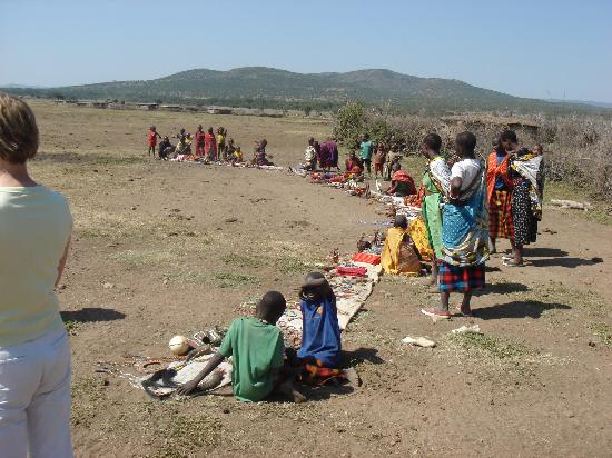 Porini Mara Camp: Masai villagers