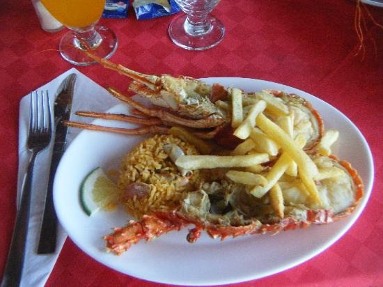 Hotel Playa Costa Verde: Lobster dinner
