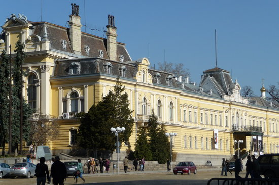 Sofia, Bulharsko: government buildings part of city