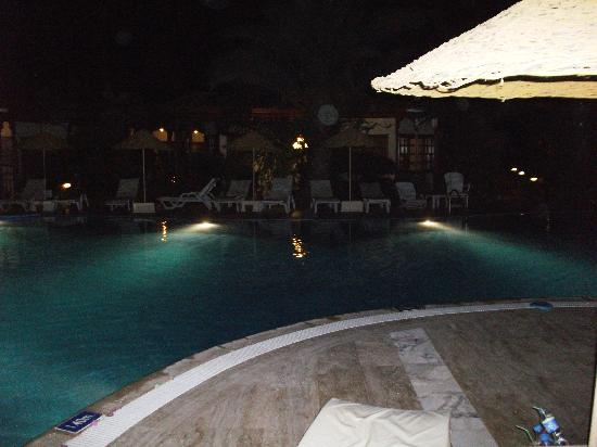 Hotel Asur /Assyrian Hotel: still around the pool at night